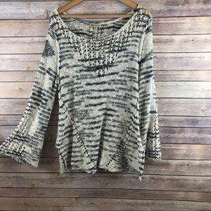 Democracy cozy crochet sweater, perfect for Fall!